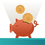 Illustration of piggy bank for setting a budget
