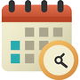 Illustration of calendar for setting a timeframe