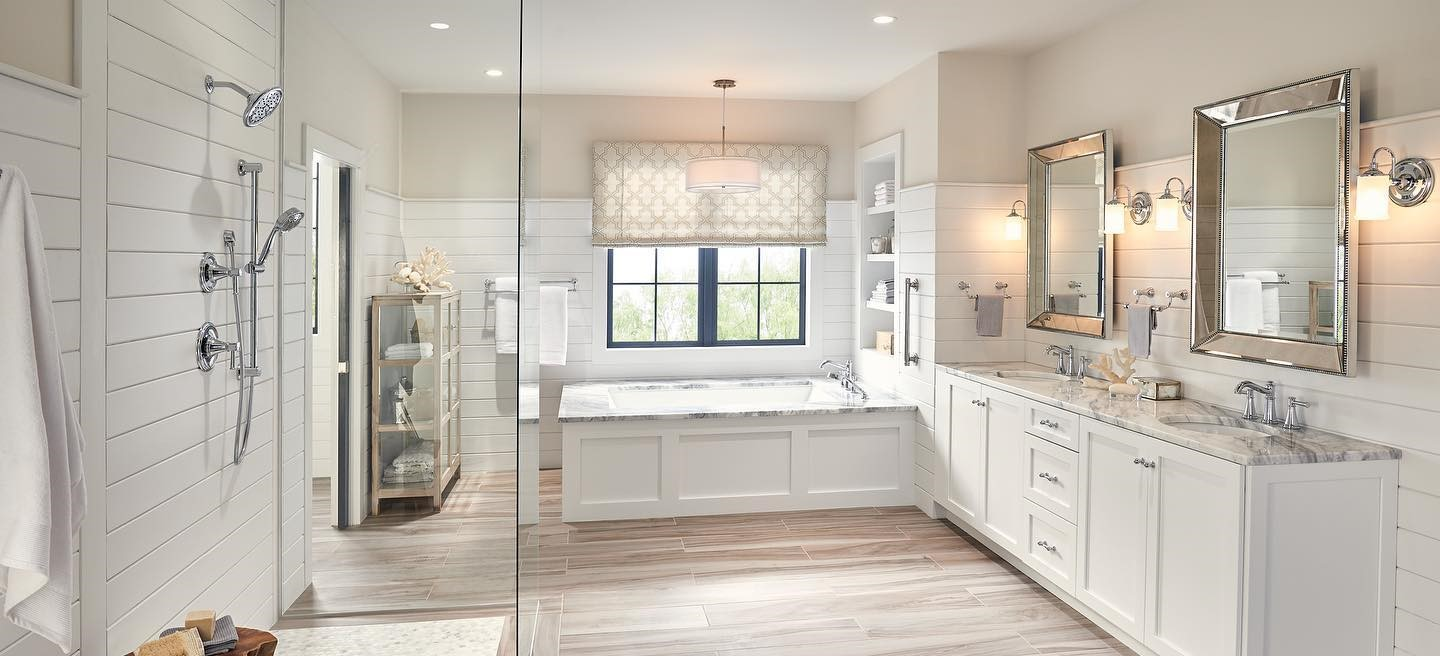 Bathroom-Shower-Tub_Tile_MSI_Aspenwood-Ash-and-Arabescato-Cerrara-Hexagon_1-Cropped