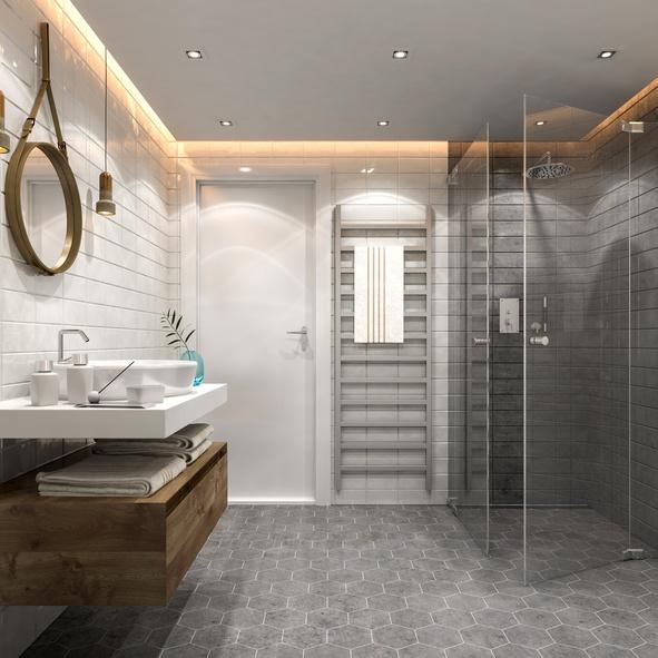 barrier-free shower door