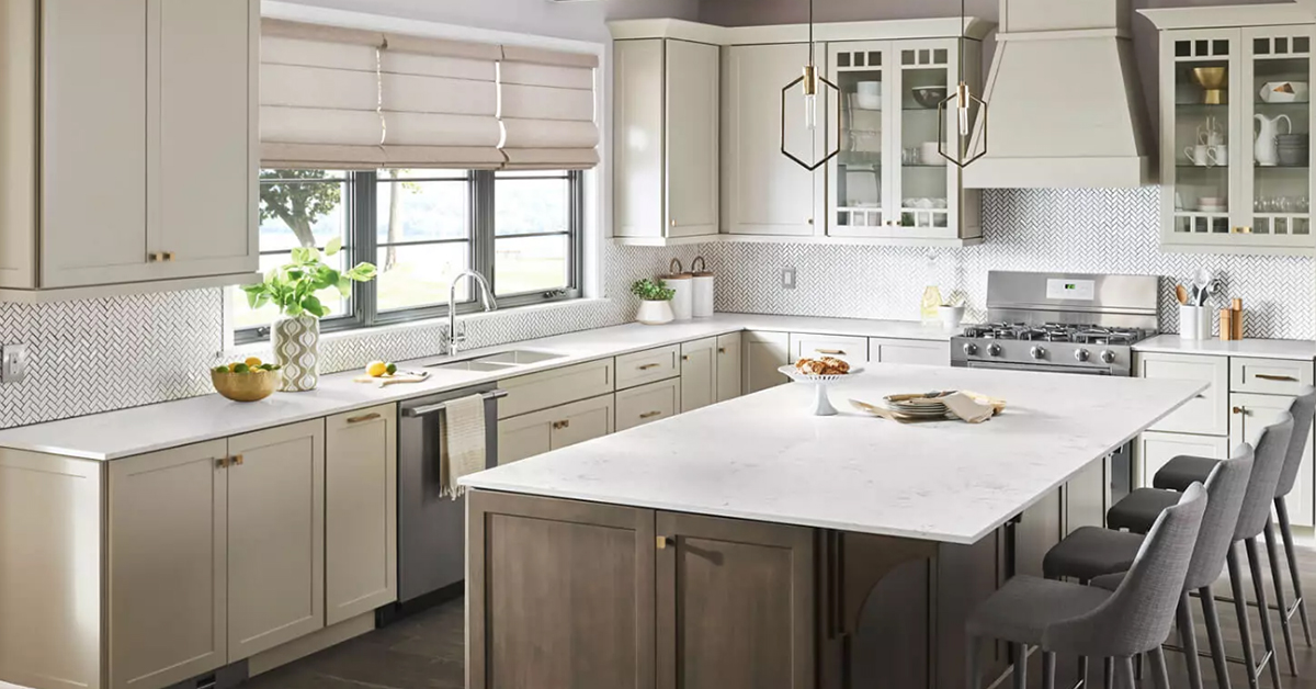 Bright kitchen with clean laminate countertops