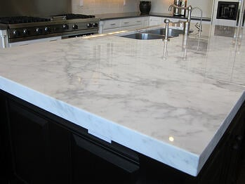 Countertop with an eased edge.